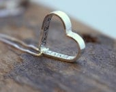 Handstamped heart necklace - personalized necklace - personalized jewelry - Monogram Name Necklace