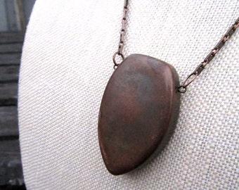 Oxyder Necklace - minimalist oxidized geometric copper necklace - Free Shipping to USA