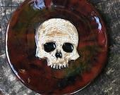 Skull Spoon Rest in Maroon