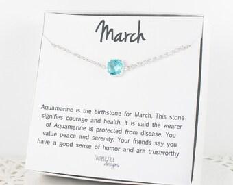 March Birthstone Silver Bracelet, Aquamarine Bangle Bracelet, March Aquamarine Bracelet, Silver Bracelet, March Birthstone Bracelet