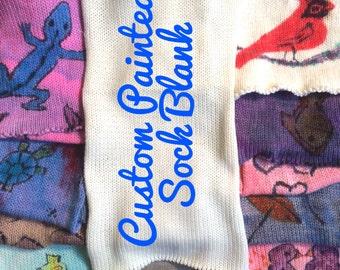 Hand-dyed yarn, Indie dyed yarn, hand dyed yarn CUSTOM ORDER Hand-painted Sock Blank merino/ nylon fingering yarn