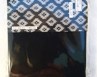 Kogin fabric BLACK Japanese Congress cloth cotton