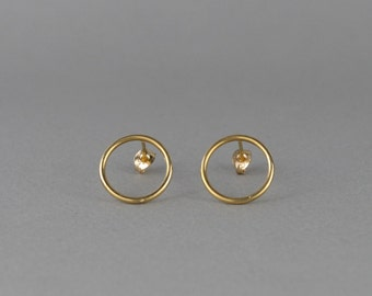Gold Circle Earrings. Minimalist Earrings. Gold Hoops. Minimalist Jewelry. Simple Earrings. Small Hoop Earrings. UK Sellers Only.