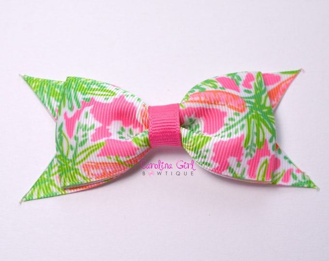 "Nibbles Bow  ~ 3.5"" Hairbow ~ Lilly Inspired ~ Small Hair Bow ~ Girls Barrette ~ Toddler Bow ~ Hair Clip ~ Girls Hair Bow ~ Easter Bow"