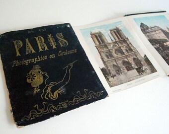 1900s Paris Photos, French Souvenir Booklet, Tinted Photographs, Architecture, Photographies en Couleurs, Art Nouveau Book, Travel Photos
