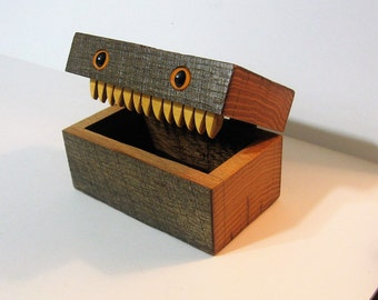 Creature Treasure Box Made Of Antique Barn Wood
