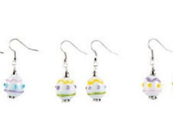 Easter Egg Lampwork Earrings