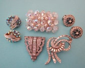 Jewelry DeStash Vintage Brooches Earrings and Clip