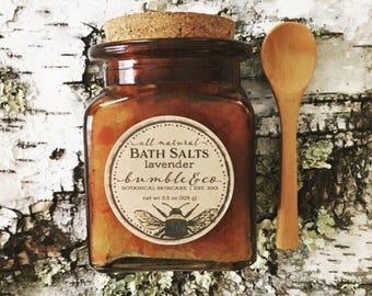 Lavender Bath Salts | Natural Bath Products | Natural Lavender Bathing Salts | Relaxing Bath Soak | All Natural Lavender Bath Salts | Gift