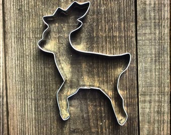 "5"" Reindeer Metal Cookie Cutter #NA1043"