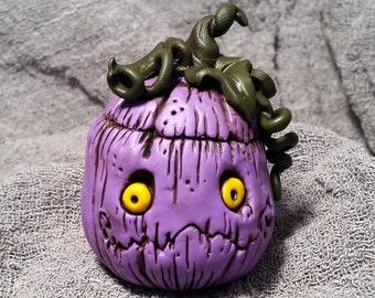 OOaK Purple Jack Halloween Pumpkin Sculpture