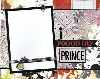 I Found My Prince - 12x12 Premade Scrapbook Page