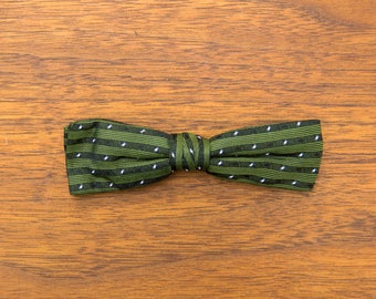 Vintage Green Royal Clip-on Bow tie - 1950s