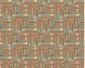 High Adventure fabric, Arrow Fabric, Boho fabric, Adventure Party, Lumberjack Chic, Farmhouse decor, Arrows in Tan, Choose the cut