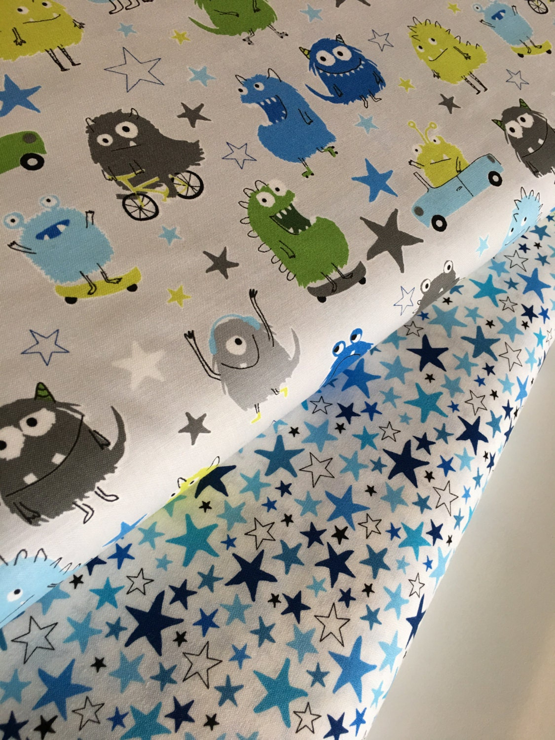 Monster fabric kids fabric baby fabric cute novelty for Baby monster fabric