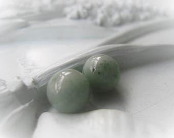 Burma Jade Gemstone Pair Orb Jade Round 10mm Round Item No. 8835