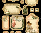 SALE PREORDER Graphic 45 Portrait of a Lady Journaling Chipboard