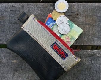 Eco friendly mini change purse - Recycled Bag - made from bicycle inner tube - Coin Purse