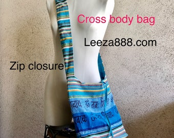 Cross body cotton bag