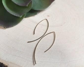 14K Gold-Filled Half-Loop Earrings