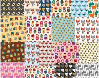 "SALE 20% Off SQ88 Robert Kaufman Suzy's Minis Precut 5"" Charm Pack Fabric Quilting Cotton Squares Suzy Ultman CHS-532-42"