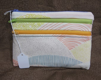 Kindle paperwhite case, three zipper pouch
