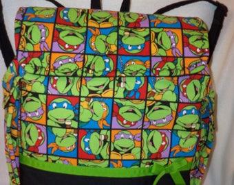 XLarge Teenage Mutant Ninja turtles back pack Ships FREE USA 1/2 off International Dads diaper bag school book bag birthday gift College age