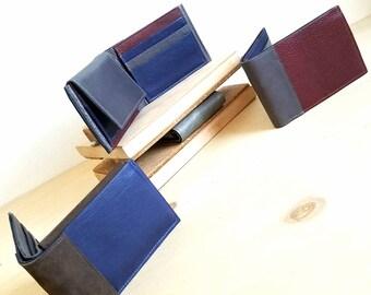 Custom Bifold Wallet, Custom Design Mens Wallet, Personalized Mens Leather Wallet, Monogrammed Gift for Him - The Wesley Wallet Custom Color