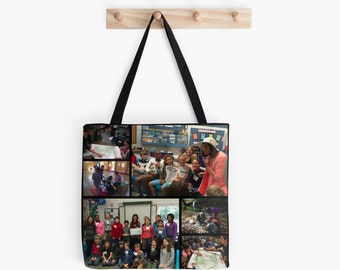 Sample personalized custom photo tote bag gift, personal gift Mother's Day Father's Day grandparents gift birthday graduation holiday