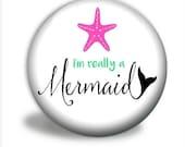 Pocket Mirror - Mermaid Mirror, I'm Really A Mermaid PM036