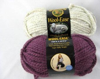 2 Skeins Wool Ease Super Bulky Yarn