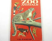 A Golden Nature Guide to Zoo Animals Vintage 1960s Guide Book with Fabulous Illustrations