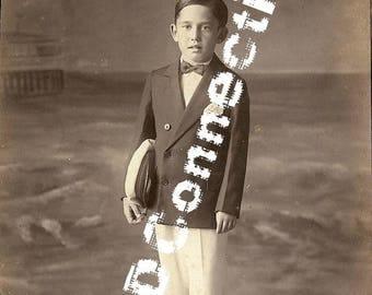 Bruno Cristelli, 1929 Photograph Little Sailor Boy, Galveston Texas Rare Photograph, Rosemarie Cristelli, Galveston Island BOI