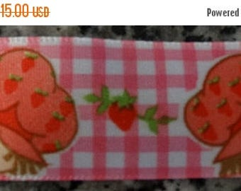 1980's Strawberry Shortcake Ribbon, Soft Satin like Ribbon, Hair Bow Ribbon, Costume Ribbon, Little Girl Ribbon