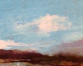ACEO 1626, 0il painting original landscape, ACEO, miniature art, 100% charity donation, oil painting on cardboard