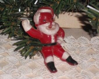 Vintage Sitting Santa Figurine