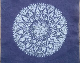 Lace Doily Screenprinted Patch