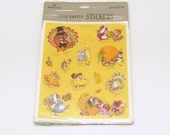 Thanksgiving Stickers Vintage Stickers Hallmark Made in USA