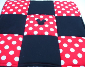 Mickey Inspired Baby Lovey 18 x 18 READY TO SHIP Clearance Sale