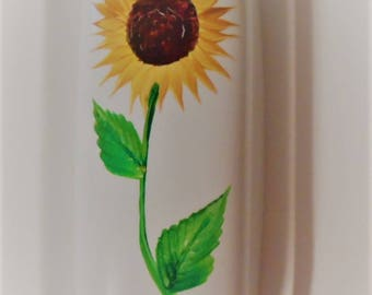 Sunflower Butter Dish Hand Painted Sunflowers Covered Butter Dish Sunflower Butter Dish With Lid