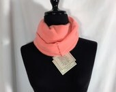 Infinity Cashmere Wool Scarf made from an upcycled pale tangerine sweater
