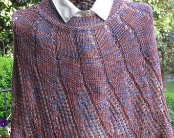 Little Spiral Hand-knit Silk/Merino Poncho