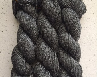 Heather Grey Worsted Weight Yarn with Slight Sheen