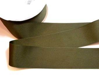Wide Green Ribbon, Offray Olive Green Grosgrain Ribbon 2 1/4 inches wide x 10 yards