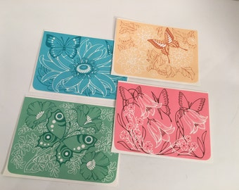 Vintage Butterfly Stationary Envelopes 24 pieces