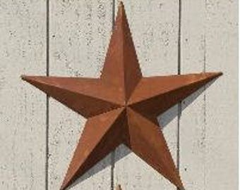 72 Inch Rusty Metal Tin Barn Star