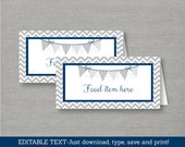 Cute Chevron Buffet Cards...