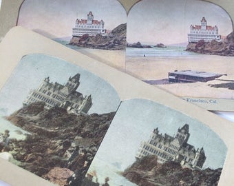 Antique Stereoview San Francisco Cliff House Seaside Hotel Lot 1899