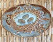 Ceramic Bird Nest Soap Dish or Trinket Dish Spring Easter Decor Handmade Pottery