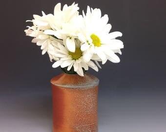 Flower Vase. Bud Vase. Soda Glazed Stoneware Pottery